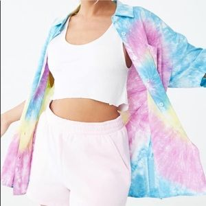 Forever 21 Tie Dye Button Down